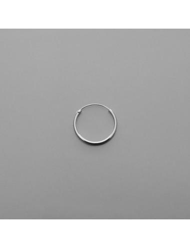 PENDIENTE PLATA ARO LISO 2,0 x 18 mm 3 PARES