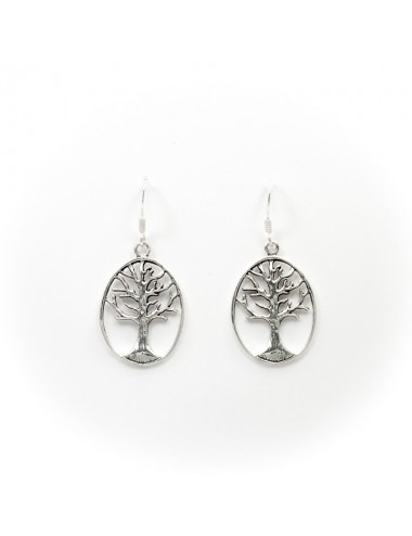 Long earring silver tree of life