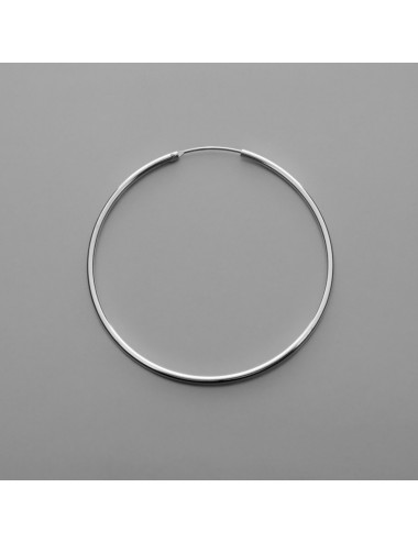 PENDIENTE PLATA ARO LISO 1.5 x 45 mm 1 PAR