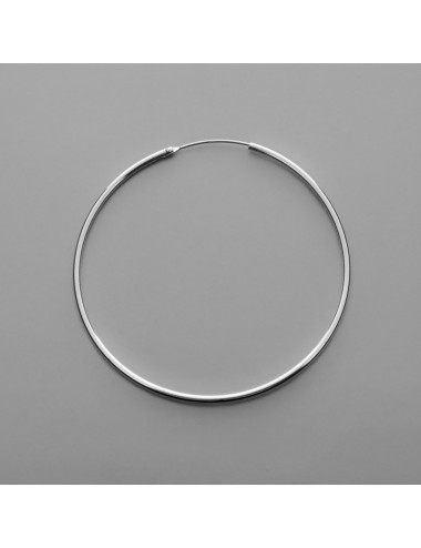 PENDIENTE PLATA ARO LISO 1.5 x 50 mm 1 PAR