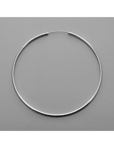 PENDIENTE PLATA ARO LISO 1.5 x 60 mm 1 PAR