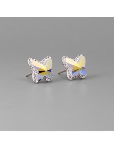 3700014 - Pendientes de plata con swarovski mariposa, 6 pares