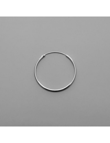 PENDIENTE PLATA ARO LISO 1,5 X 35 mm 1 PAR