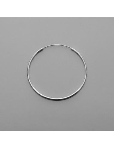 PENDIENTE PLATA ARO LISO 1,5 X 40 mm 1 PAR