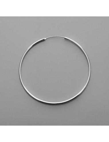Pendiente plata aro liso 2 x 50 mm 1 par