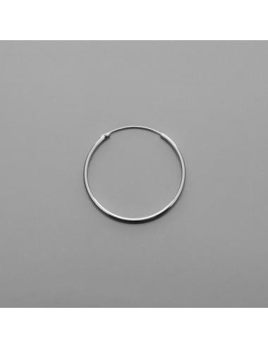 PENDIENTE PLATA ARO LISO 2,0 X 35 mm 1 PAR