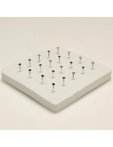 Piercing nariz pin con simil glue color 1,5 mm, 20 unidades