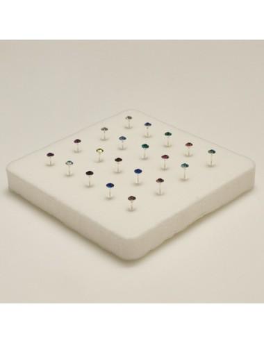 Piercing de nariz pin con simil glue color 2,0 mm, 20 unidades