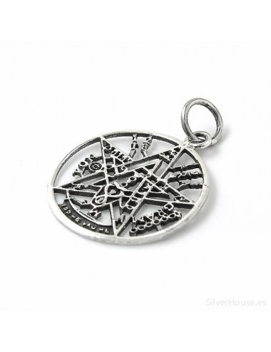 Colgante plata tetragramaton 22 mm