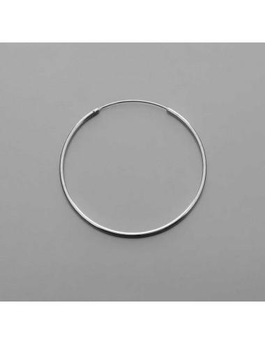 Pendiente plata aro liso 2,0 x 45 mm 1 par