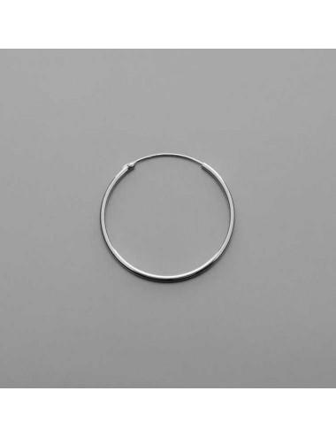 Pendiente plata aro liso 2,5 x 35 mm 1 par