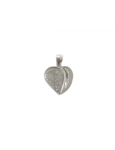 Colgante plata micro-setting corazon