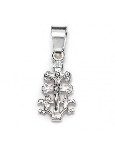 Colgante plata cruz de caravaca - 15x30 -l