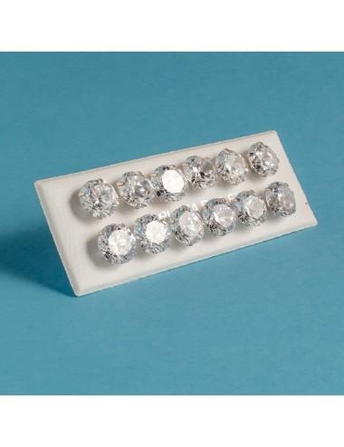 pendiente plata circonita 9 mm 6 pares