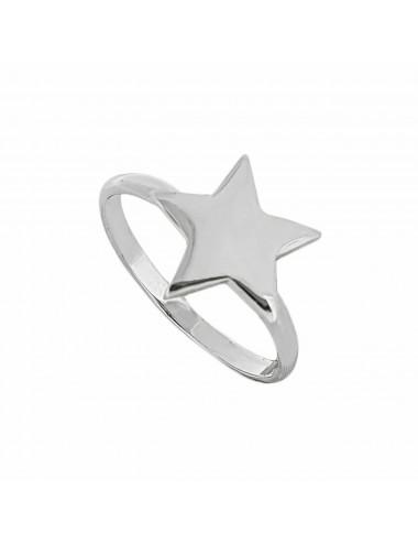 1300093 - Anillo de plata con una estrella