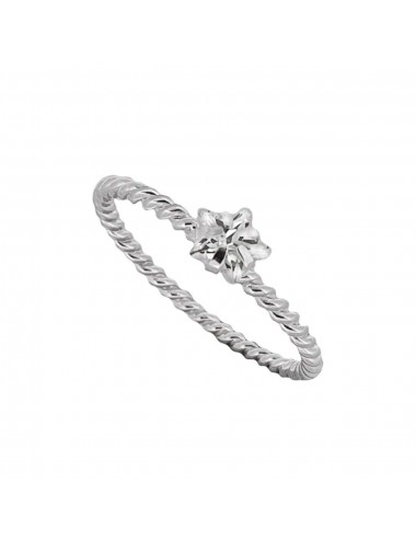 1300240 - Anillo de plata virado con circonita estrella
