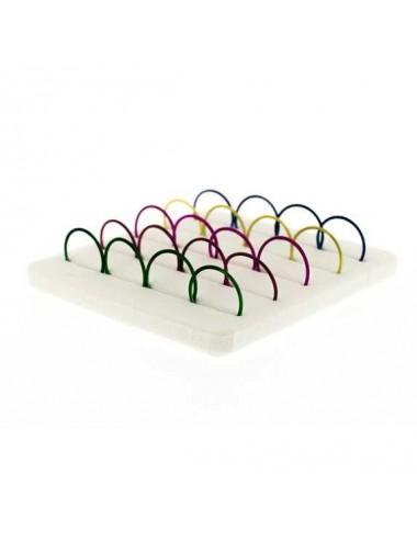 Pack de 20 unidades pendiente aro color piercing  nariz 10 mm