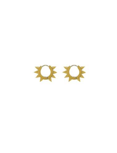 Aro caballero pincho  dorado 12 mm 3 pares
