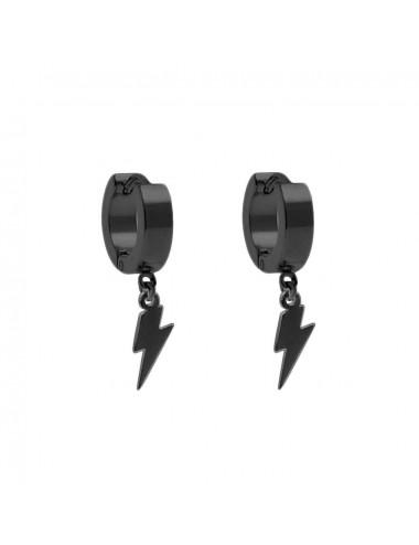 5600343 - Aros acero negro de 4 x 9 mm con rayo, 6 unidades