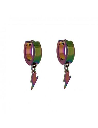 5600349 - Aros acero rainbow de 4 x 9 mm con rayo, 6 unidades