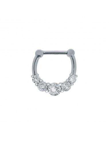 6400036 - Piercing septum acero 5 circonitas engastadas