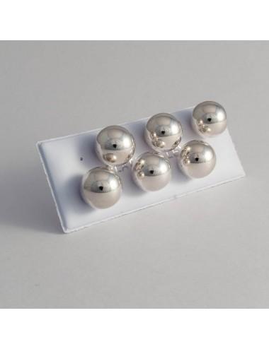 Pendientes de plata con bola de 12 mm pack de 3 pares