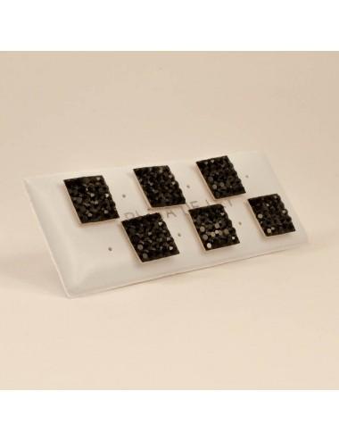Mosaico cuadrado negro 10x10