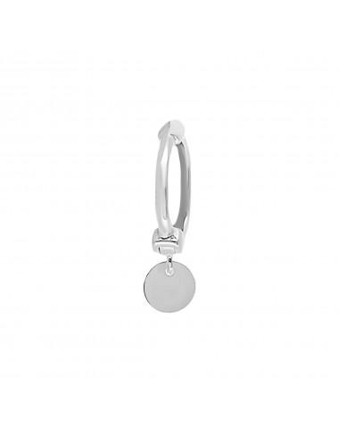 4600112 - Piercing ear cuff de plata para hélix con charm plaquita