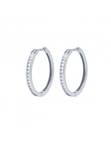 1200057 - Aros de plata bañada en rodio con circonitas 20 mm