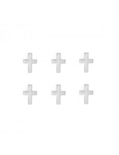 3800279 - Pendiente mini de plata con forma de cruz, pack de 3 pares