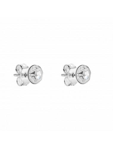 2600005 Pendientes de plata simil blanco 3 mm, 6 Pares