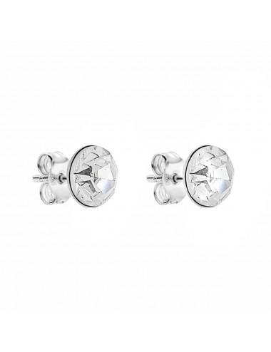2600023Pendientes de plata simil blanco 7 mm, 6 Pares