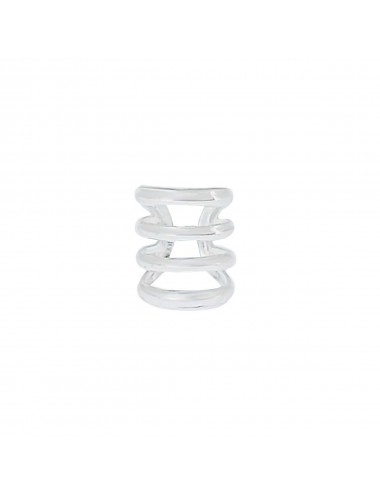 4600099 - Ear cuff o arete de plata para el hélix, 2 unidades