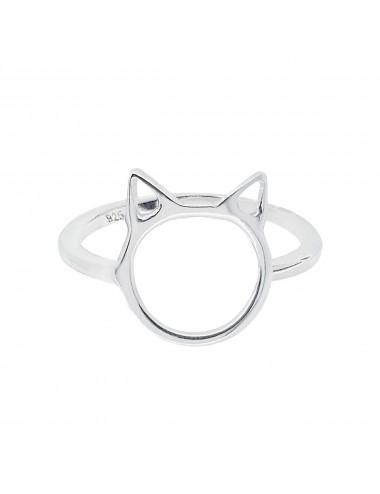 1300086 Anillo de plata con forma de gato