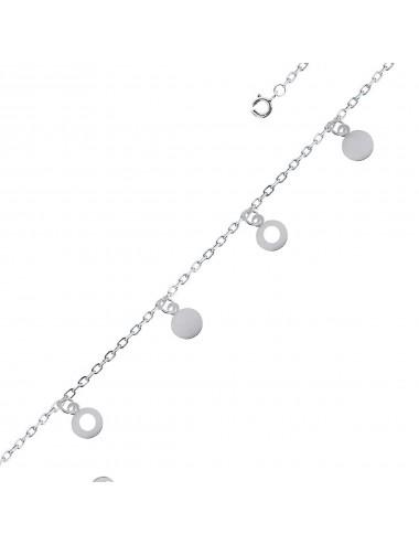 Pulsera de plata con charms plaquitas