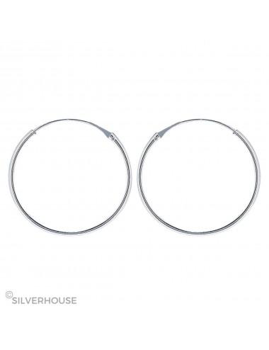 1200079 - Pendiente plata aro liso 1,2 x 50 mm 1 par