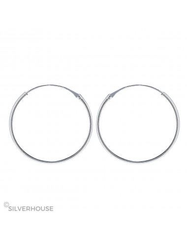 Pendiente plata aro liso 1,2 x 45 mm 1 par
