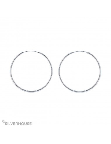 1200069 - Pendiente plata aro liso 1,2 x 35 mm 1 par