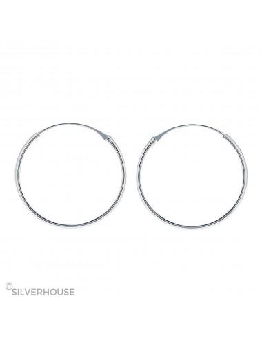 1200010 - Aro liso de plata 1,2 x 40 mm, 1 par