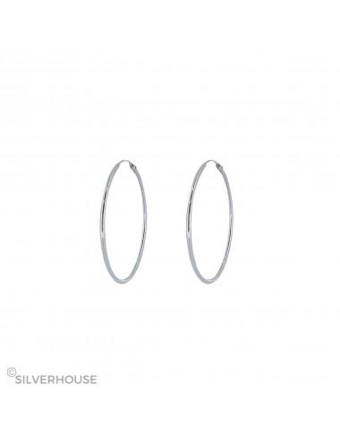 1200009 - Aro liso de plata 1,2 x 30 mm, 6 pares