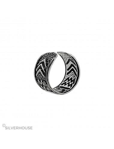 4600096 Ear cuff o arete de plata para hélix
