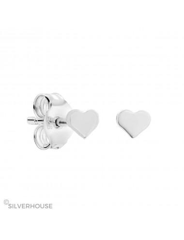 3800213 Pendiente mini de plata con corazon 2 mm, 3 pares
