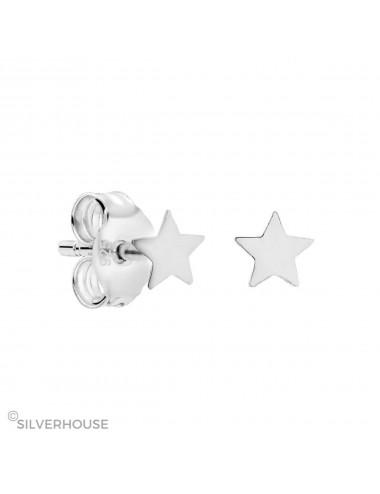 3800223 - Pendiente mini de plata con estrella 3 mm, 3 par
