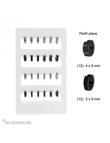 5600406 Expositor Aros de acero 3 x 9 mm y 4 x 9 mm planos