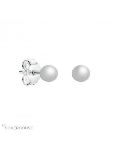 Pendientes de plata con bola de 3 mm pack de 6 pares