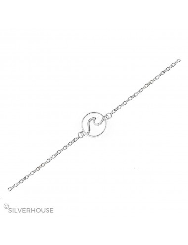 1500050- Tobillera de plata con ola en a