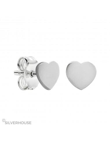 Pendiente de plata mini Corazón 5 mm