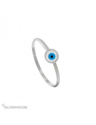 1300272 Anillo de plata ojo de la suerte 6 mm