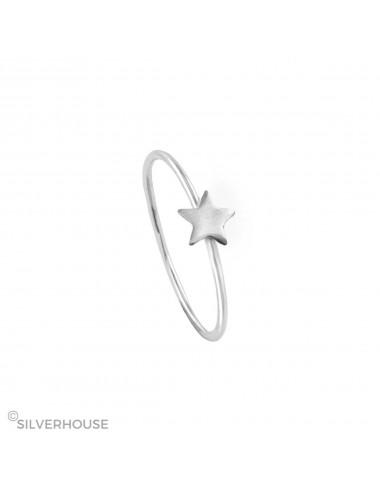 1300279 - Anillo de plata con estrella