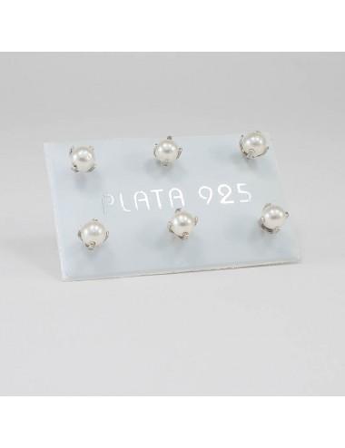 Perla Engastada 4 mm